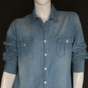 Ellison Denim Long-Sleeve Button Down Shirt